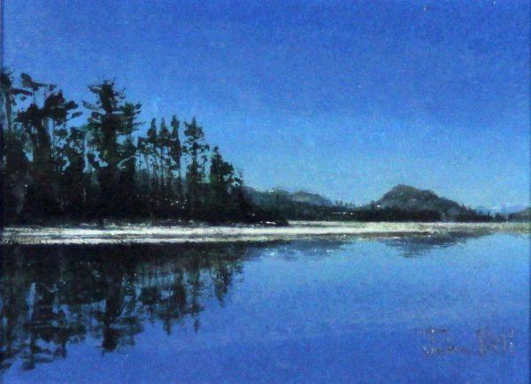 John Bell_Original_Acrylics_Loch Laggan_Image 5x6.5_Framed 10.5x 12 (2)