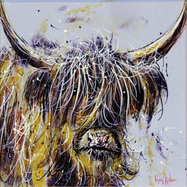 Ruby Keller_Original_Acyrlics_The Highlander II_image 14 x 14