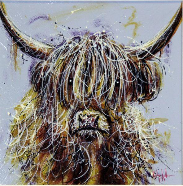 Ruby Keller_Original_Acyrlics_The Highlander I_image 14 x 14