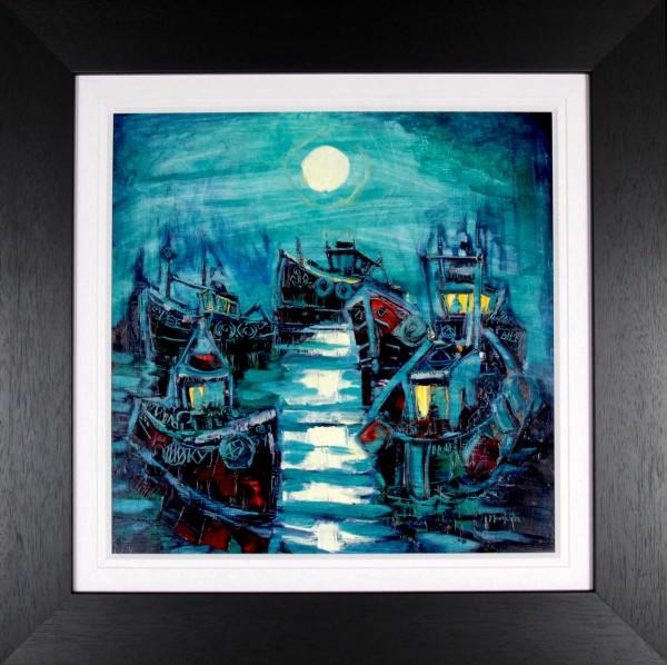 CMW_Original Oils_Night Fleet_image 24x24_Framed 36x36 (2)