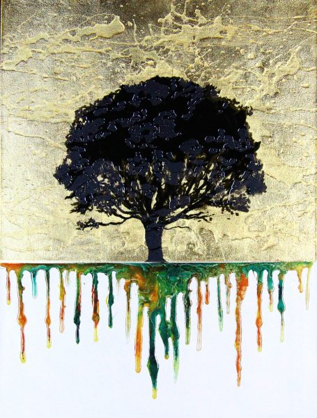 Derek Collins_Original_ Roots, Gold_Unframed 31.5x23 (1)