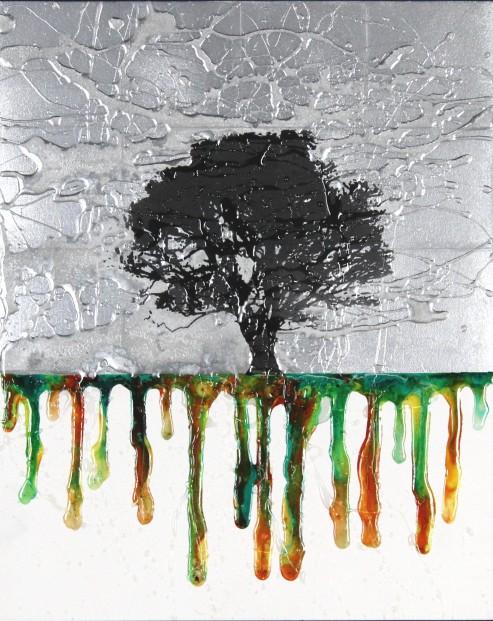 Derek Collins_Original_Roots, Silver_Unframed 20x16 (2)
