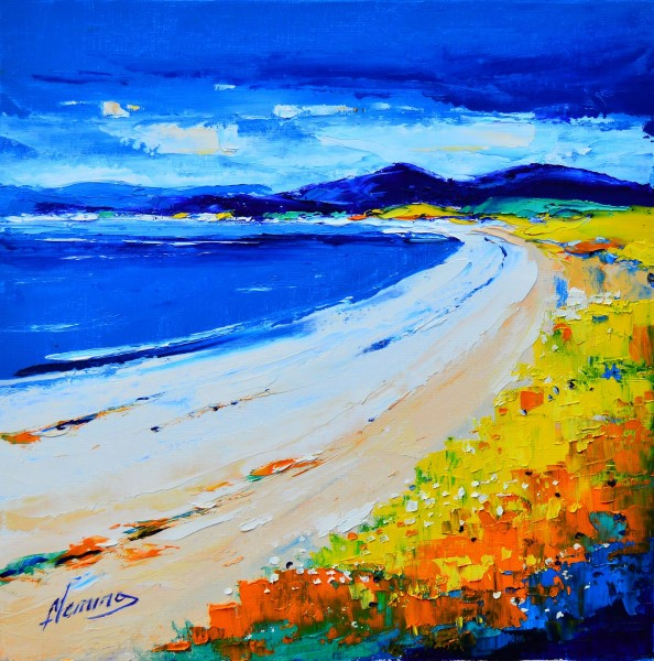 Kevin Fleming_Original Oils_Sollas Beach, North Uist_image 11.5 x 11.5
