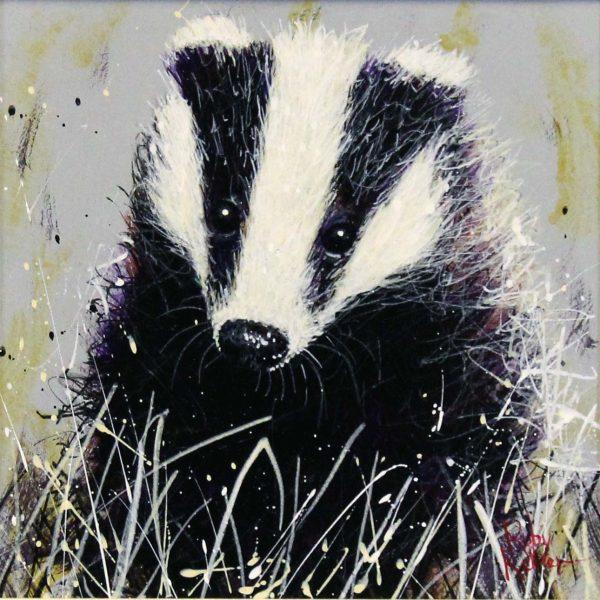 Ruby Keller_Original_Acrylics_Badger II_ img 10x10