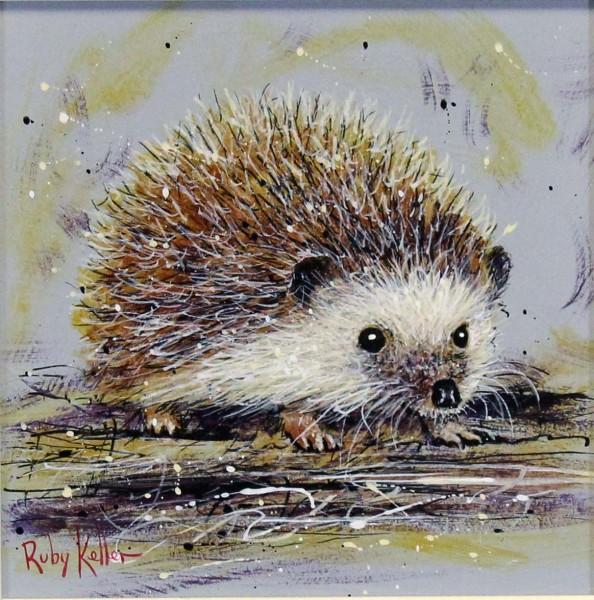 Ruby Keller_Original_Acrylics_Hedgehog I_img 10x10