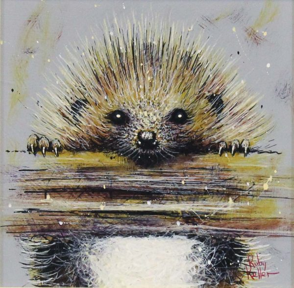 Ruby Keller_Original_Acrylics_Hedgehog II_img 10x10