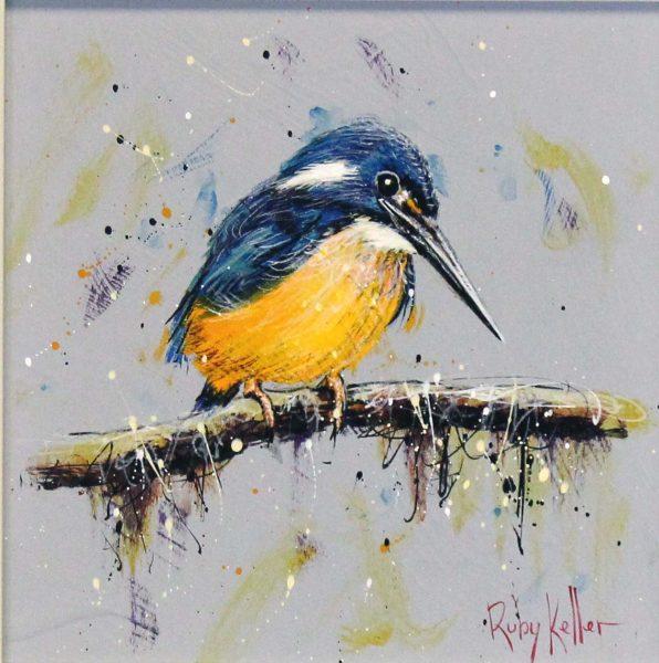 Ruby Keller_Original_Acrylics_Kingfisher II_ img 10x10