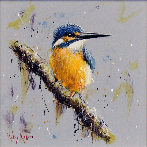 Ruby Keller_Original_Acrylics_Kingfisher I_img 10x10