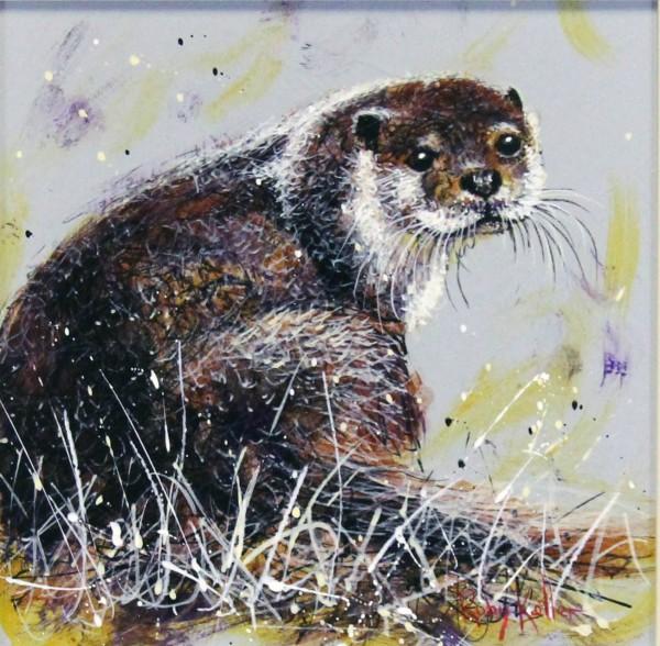 Ruby Keller_Original_Acrylics_Otter II_img 10x10