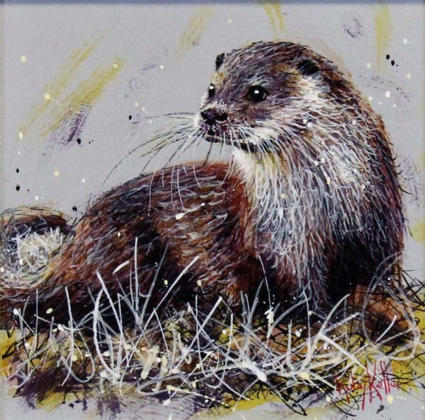 Ruby Keller_Original_Acrylics_Otter I_img 10x10