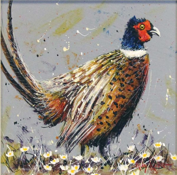 Ruby Keller_Original_Acrylics_Pheasant II_img 10x10