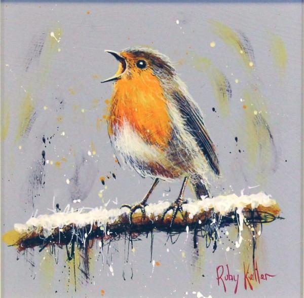 Ruby Keller_Original_Acrylics_Robin II_img 10x10