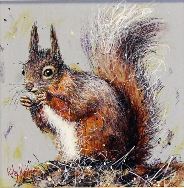 Ruby Keller_Original_Acrylics_Squirell II_ img 10x10