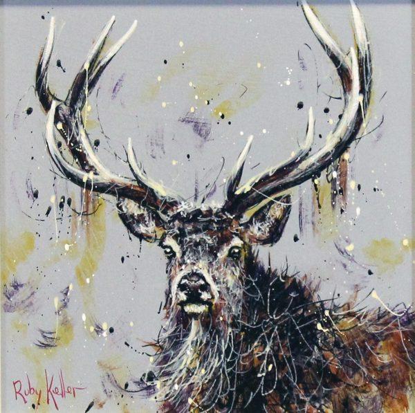 Ruby Keller_Original_Acrylics_Stag II_ img 10x10