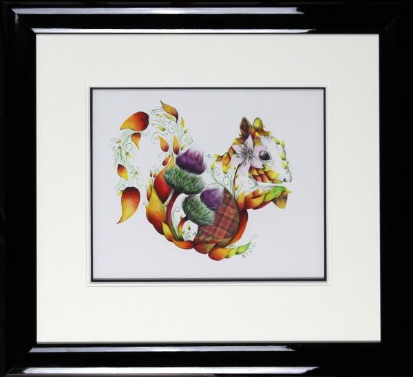 Kat Baxter_Original_Mixed Media_ Ginger_Image size 12x15_Framed 24.5x26.5 (7)