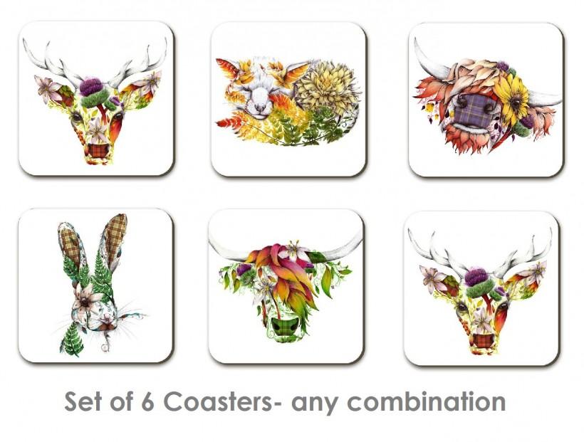 set of 6 coasters