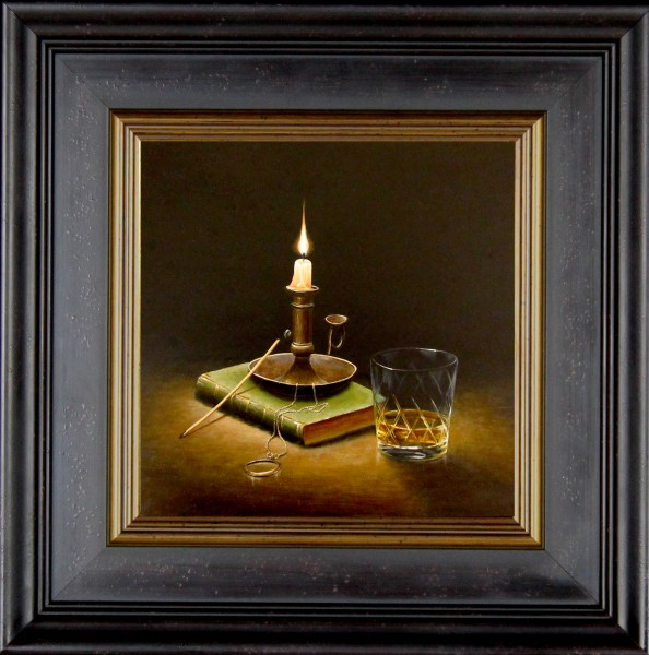 Ian Mastin_Original_The Wee Small Hours_Image 10x10_Framed 17x17 (1)