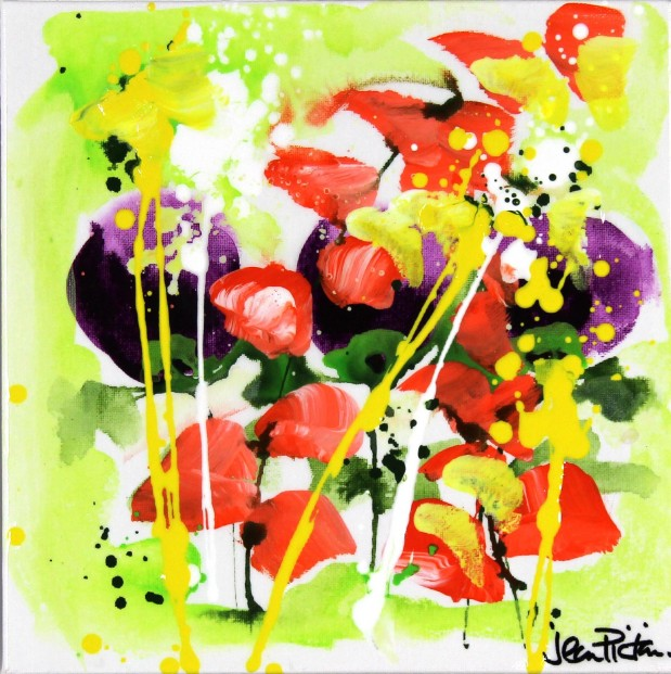 Jean Picton_Original_Mixed Media_ Business As Usual_Image 12x12