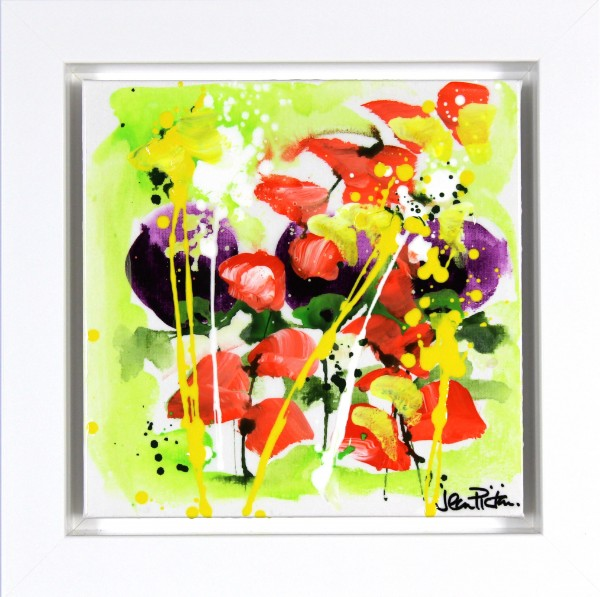 Jean Picton_Original_Mixed Media_ Business As Usual_Image 12x12_Framed 16.5x16 (2)