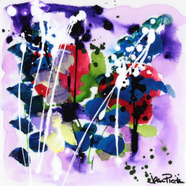 Jean Picton_Original_Mixed Media_ Purple Rain_Image 12x12_)