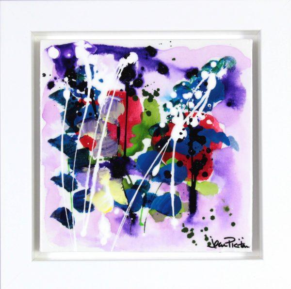 Jean Picton_Original_Mixed Media_ Purple Rain_Image 12x12_Framed 16.5x16 (2)