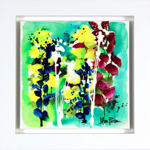 Jean Picton_Original_Mixed Media_ Spray Again_Image 12x12_Framed 16.5x16 (1)