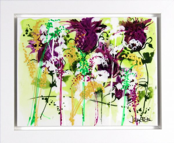 Jean Picton_Original_Mixed Media_ Thistle-Do_Image 14x18_framed 18.5x22 (1)
