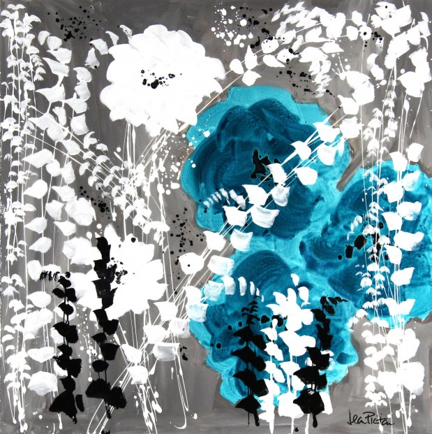 Jean Picton_Original_Mixed Media_ Three's Fun_Image 36x36 (3)