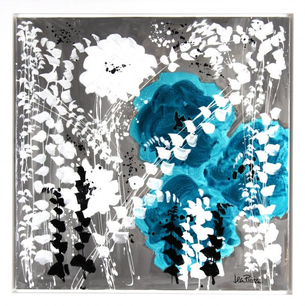 Jean Picton_Original_Mixed Media_ Three's Fun_Image 36x36_Framed 40.5x40 (3)