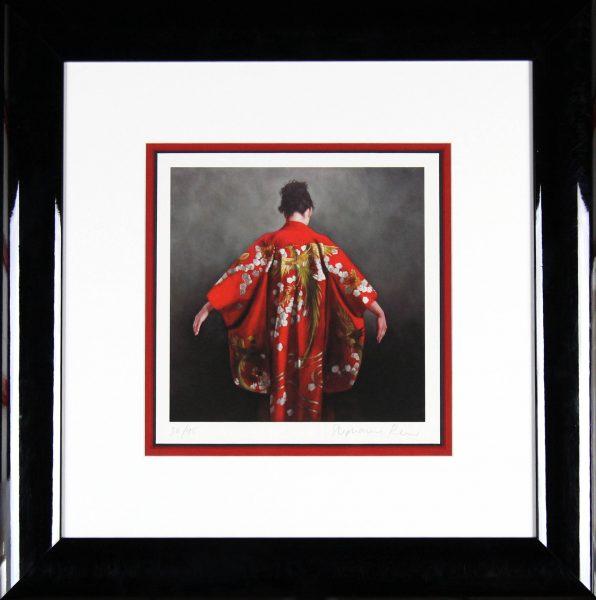 Stephanie Rew_Signed Limited Edition Print_ Scarlet Kimono_Image 9x9_22x 22 (2)