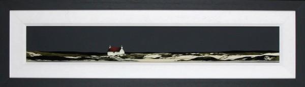 Ron Lawson _Original_Watercolour and Gouache_Arisaig Coast_image 6x38.5_Framed 14x47(3)
