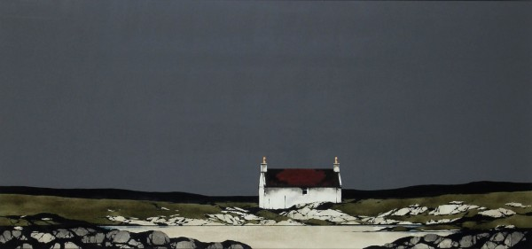 Ron Lawson _Original_Watercolour and Gouache_Barra Coast _image 18x38_(2)