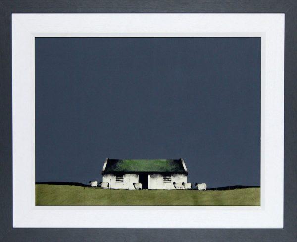 Ron Lawson _Original_Watercolour and Gouache_Farm Building,Barra _image 20x26_Framed 27x33(2)