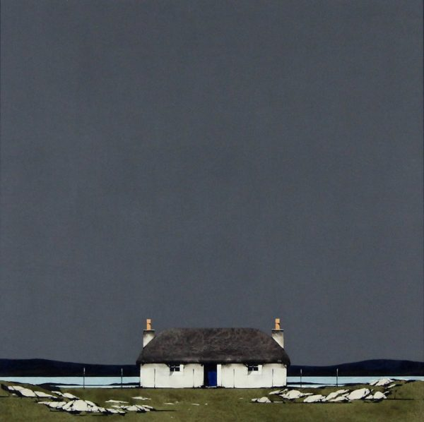 Ron Lawson _Original_Watercolour and Gouache_Hebridean Cottage _image 20x20_(2)