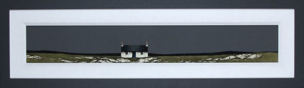 Ron Lawson _Original_Watercolour and Gouache_North Uist Cottage_image 6x38.5_Framed 14x47(2)