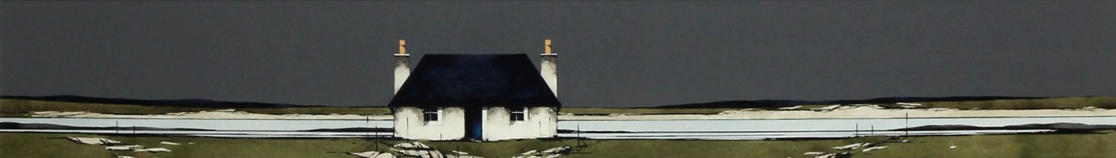 Ron Lawson _Original_Watercolour and Gouache_Tiree Cottage, Ruiag_image 6x38.5