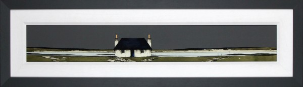 Ron Lawson _Original_Watercolour and Gouache_Tiree Cottage, Ruiag_image 6x38.5_Framed 14x47(2)