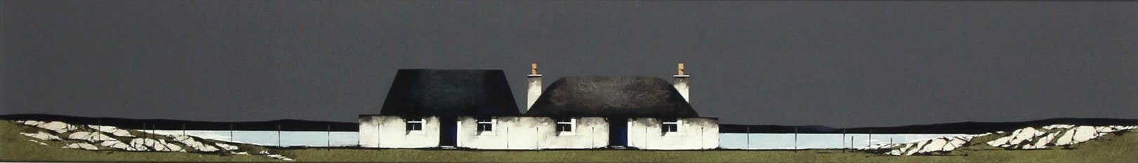Ron Lawson _Original_Watercolour and Gouache_Tiree Cottage, balevullin_image 6x38.5