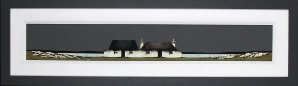 Ron Lawson _Original_Watercolour and Gouache_Tiree Cottage, balevullin_image 6x38.5_Framed 14x47(1)
