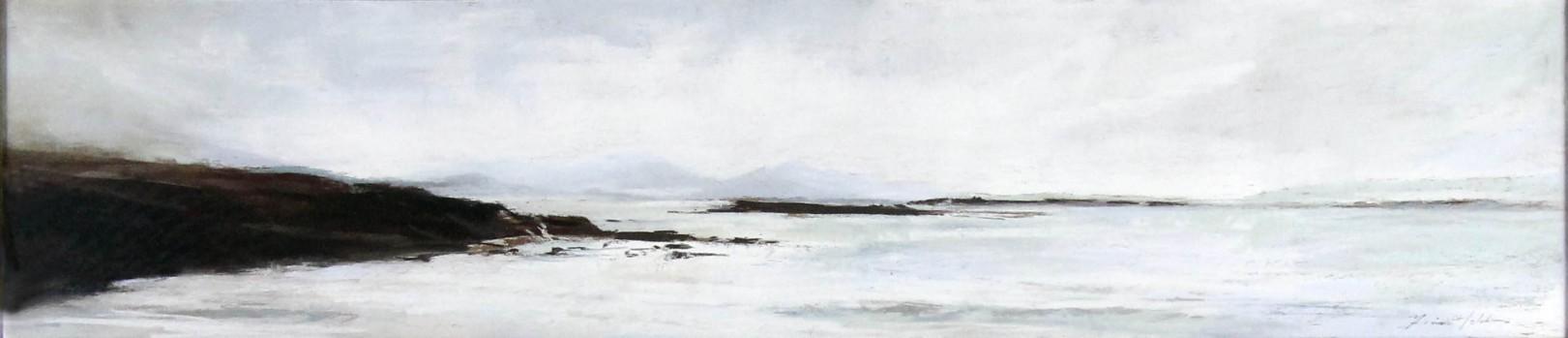 Fiona Haldane_Original_Pastels_Far Islands, Sanna Bay_Image 8 x 36