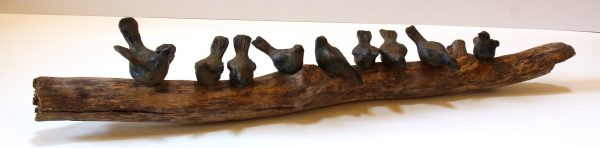Jane Adams_Original_Ceramic on Driftwood_A Flying Lesson_32x6x6 (2)