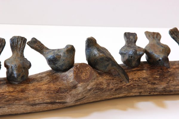 Jane Adams_Original_Ceramic on Driftwood_A Flying Lesson_32x6x6 (3)