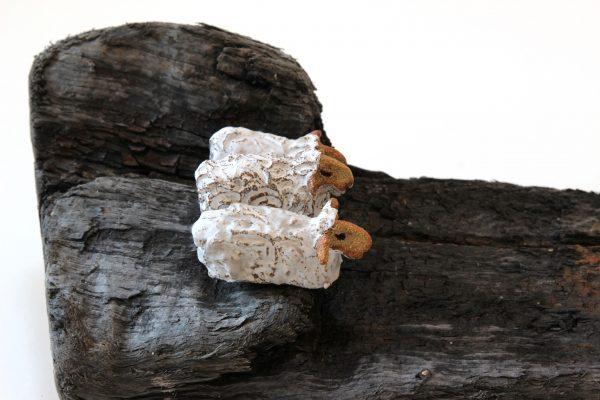 Jane Adams_Original_Ceramic on Driftwood_The Stand Off_18x8x5 (3)