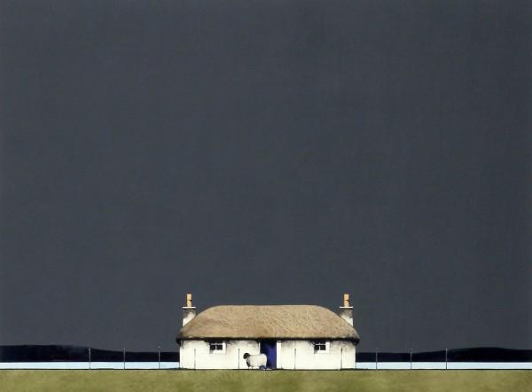 Ron Lawson_Original_ Watercolour and Gouache_ Blue Door Cottage_ Image 19 x 25 (2)