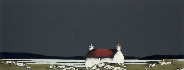Ron Lawson_Original_Watercolour and Gouache_Bruairnis, Barra_image 15 x 38(3)