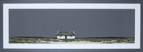 Ron Lawson_Original_Watercolour and Gouache_North Uist Coast_image 16x59_framed 24x67 (2)