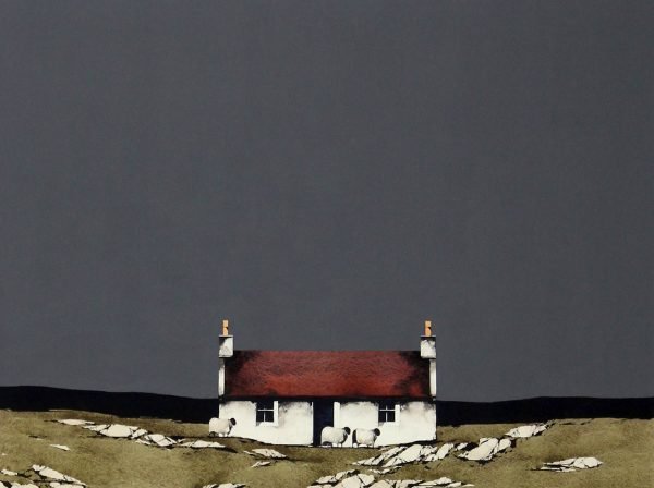 Ronn Lawson_Original_Watercolour and Gouache_Cottage, Vatersay_image 20x26(2)