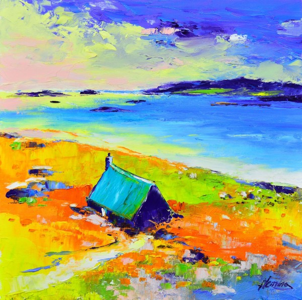 3.Cottage at Sunset, Kendebig,   Harris
