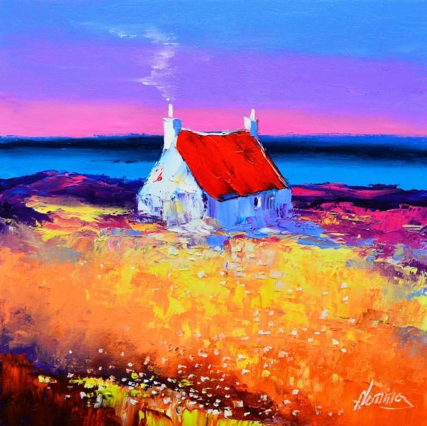 6.Cottage at Dusk, East Bays,  Harris