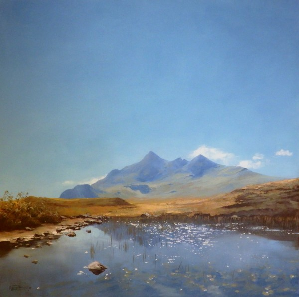 August Sun Cuillin Ridge_24x24